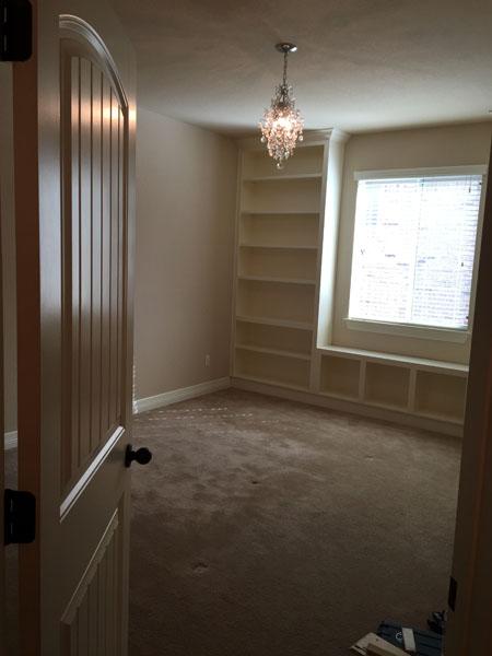Jaimes Custom Cabinets | White Built In Around Window