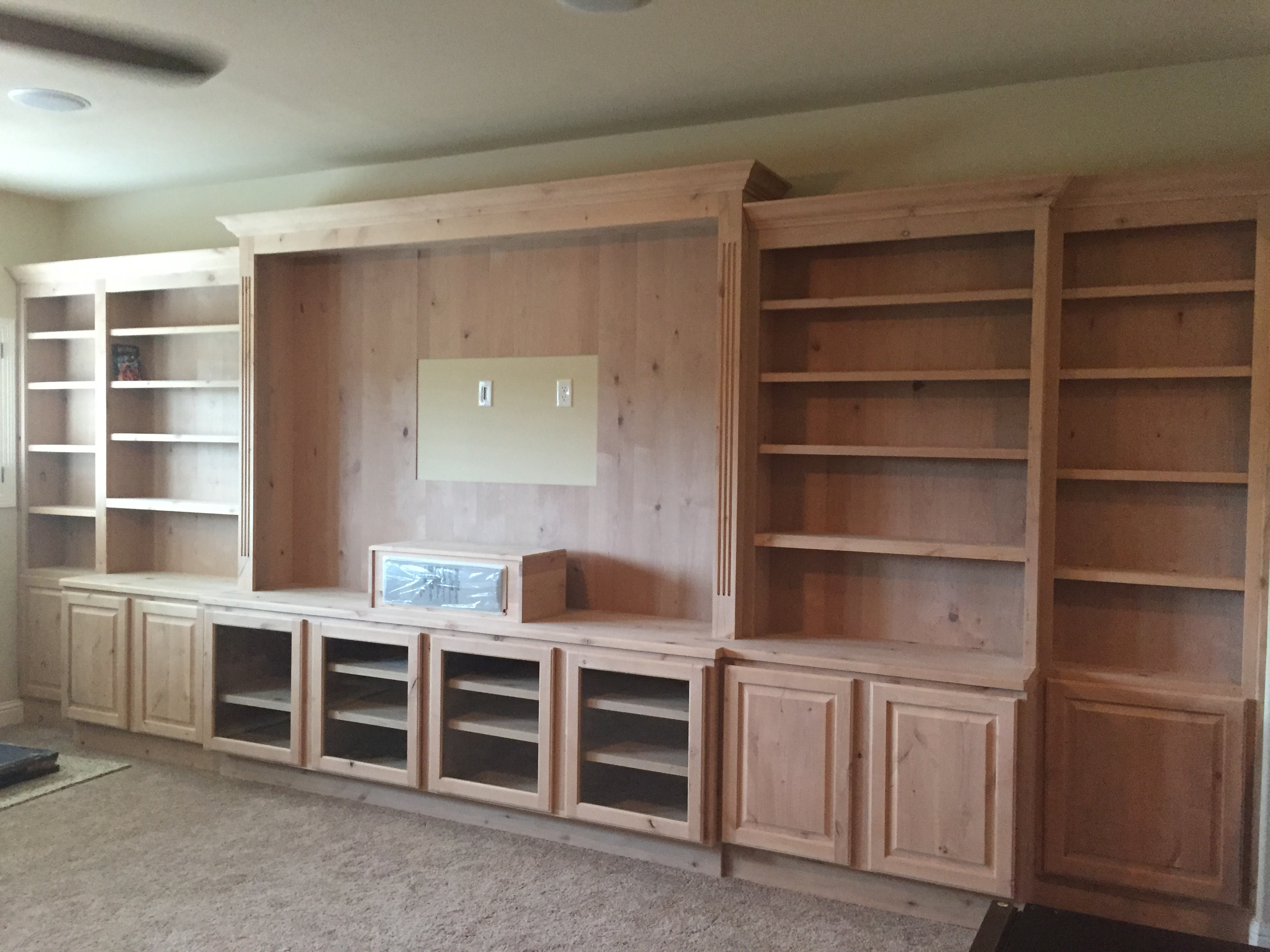 Jaimes custom cabinets unfinished custom built ins - Custom made cabinet ...