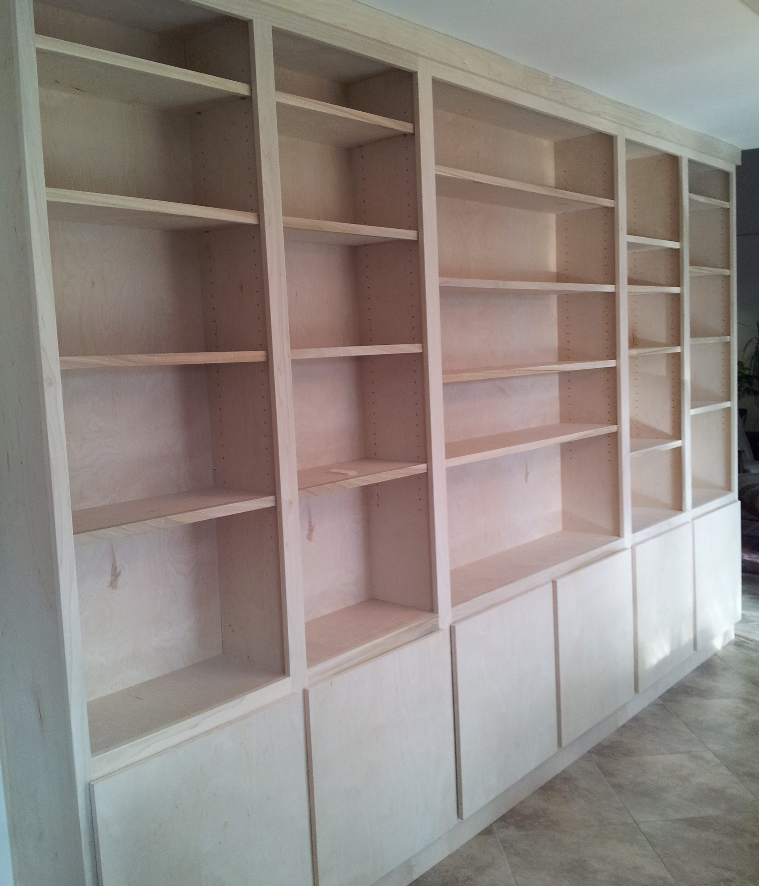 Photo of Unfinished Bookcases