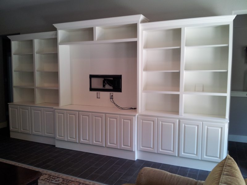 Photo of White Entertainment Center Built In