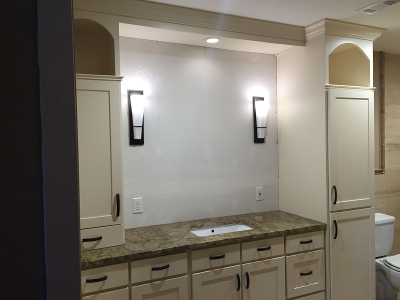 Photo of White Master Bathroom Vanity