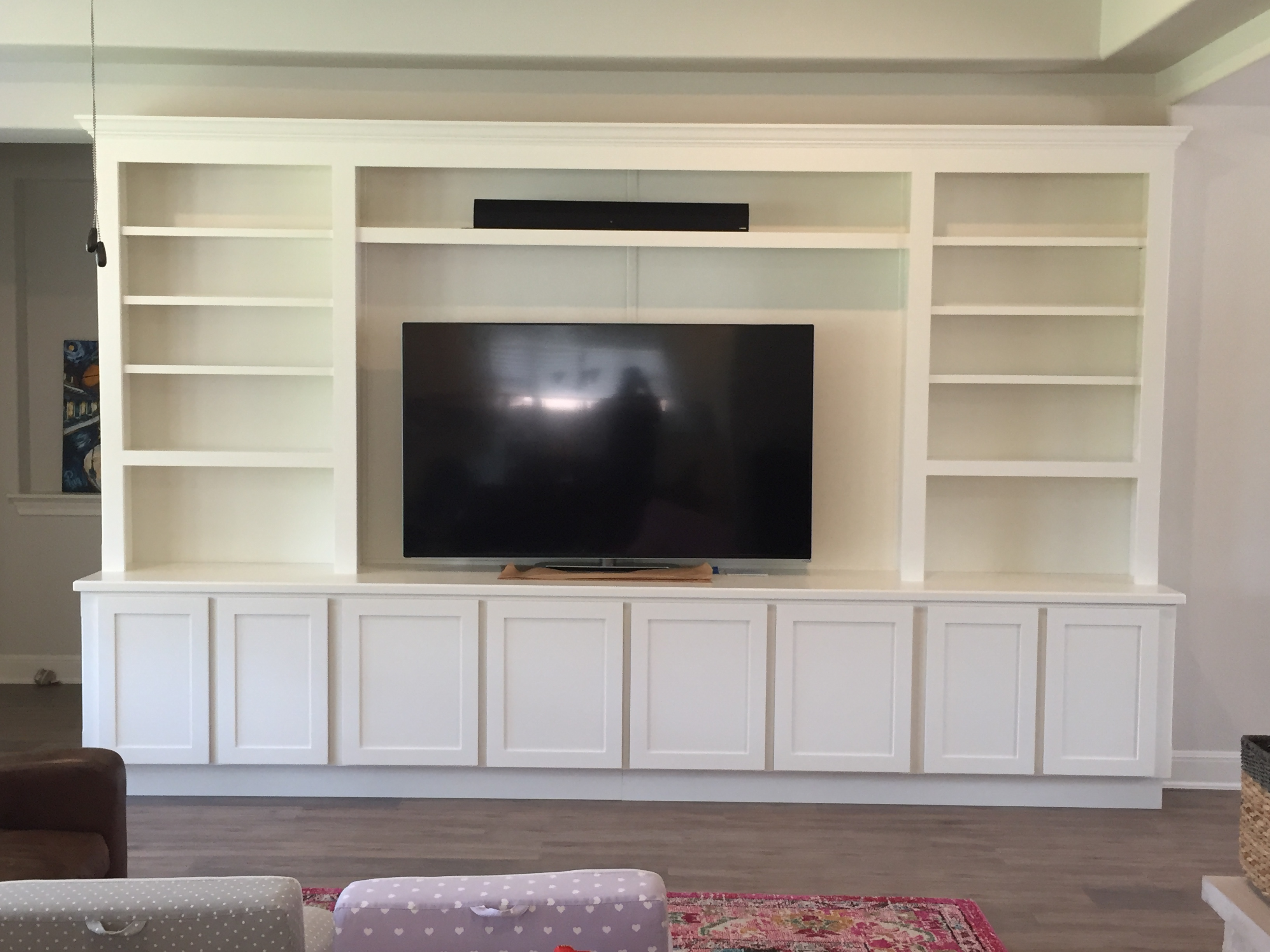 Photo of Custom Built In Entertainment Center