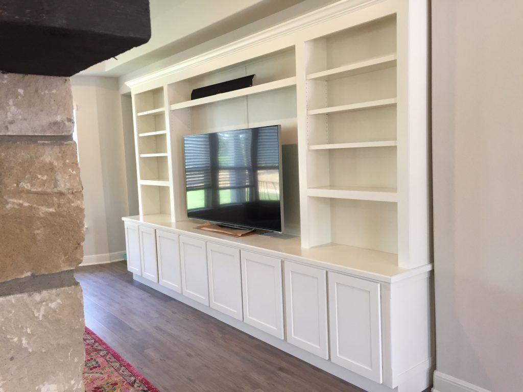 Custom Built In Entertainment Center - Jaimes Custom Cabinets