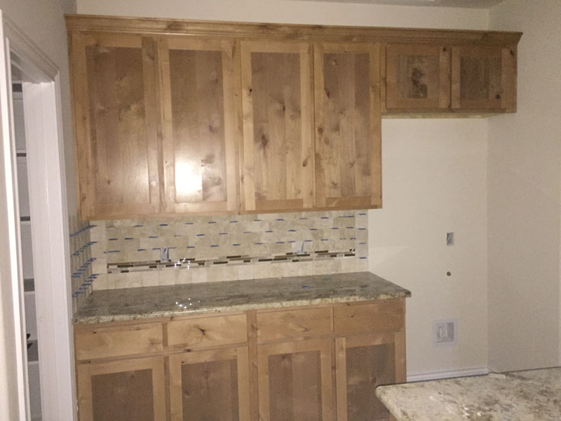 Photo of Premium Alder Kitchen Cabinets In Clear Finish