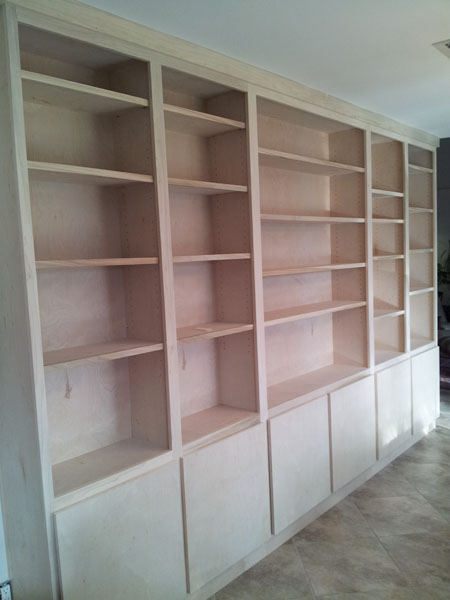 Photo of Unfinished Book Shelves With Doors